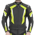 RST Motorcycle 1068 R-16 Mens Leather Jacket Flo Yel
