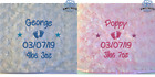 PERSONALISED BABY BLANKET EMBROIDERED SOFT FLUFFY GIFT