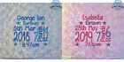 PERSONALISED BABY BLANKET EMBROIDERED SOFT FLUFFY BLUE PINK BOY GIRL GIFT