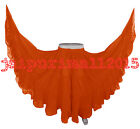 Orange Chiffon Gypsy 25 Yard Skirt Tribal Belly Dance 25 Yd Skirts S 3XL