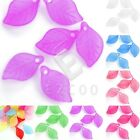 69pcs Acrylic Leaf Beads Jelly-like Jewellery Making Crafts 18x11mm 7 Colors