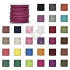 1 Roll 5M Faux Suede Thread Cord String Jewellery Making 3x1.5mm 30 Colors