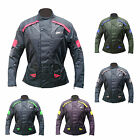 Mens Armoured Cordura Textile Motorbike Motorcycle Long Jacket Racing