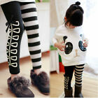 2 Pcs Girls Clothes Outfits Sequins Panda Tops Blouse& Striped Pants Kids Spring