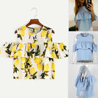 Sweet Girl New Fashion Blouse Off Shoulder Sexy Tops Mini Fashion Casual Shirts