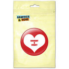 Red Heart Love Wedding Bridal Valentines Personalized Refrigerator Button Magnet