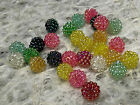 9.5mm 50/100/300/500/1000pcs IRIDESCENT ASSORTED ACRYLIC BERRY BEADS TY2112