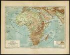 Antique Map-AFRICA-RIVER-MOUNTAIN-Meyers-1893