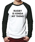 Rugby is Kinda My Thing - Union League Men Baseball Top