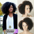 Short Afro Kinky Curly Full/Front Lace Wig for Black Women Indian Human Hair
