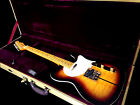 BLEM KING QUILTED MAPLE TOP TELE STYLE ELECTRIC GUITAR W/ TWEED CASE HAGGARD