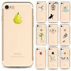 Slim Cartoon Pattern Clear Soft TPU Silicone Case Cover for iPhone 5 6s 7 Plus