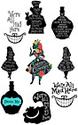 ALICE IN WONDERLAND QUOTES IRON ON TRANSFER FOR T-SHIRT FABRIC HEAT lot AW