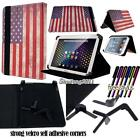 FOLIO LEATHER STAND CASE COVER For Various ARCHOS 101 Tablet 10.1inch + STYLUS