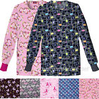 Dickies Medical scrub Women Jacket 84300C Missy Fit Print Round Neck Long Sleeve