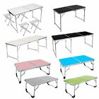 New2/4/6FT Aluminum Folding Picnic Table Reading Folding Camping BBQ Party Table