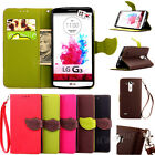 Luxury Tree Leaf Magnetic Flip Leather Wallet Card Case Stand Cover For LG Phone