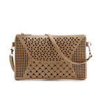 2016 Womens Ladies Envelopes Hollow Handbag Laser Cut Evening Purse Shoulder Bag