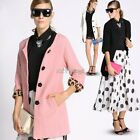 New Women's Autumn Winter Casual Woolen Coat Jacket Outwear Overcoat S M L XL K