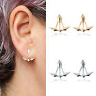 Fashion Gold Plated Double-sided Geometric Earring Punk Gothic Women New Jewelry
