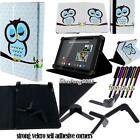 New Folio Stand Leather Cover Case For Gigaset QV830 / QV1030 Tablet + STYLUS