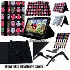 """New Folio Stand Leather Cover Case For Various FUSION5 8"""" 10"""" Tablet + STYLUS"""