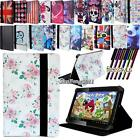 "New Folio Stand Leather Cover Case For Various FUSION5 8"" 10"" Tablet + STYLUS"