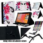 Folio Stand Leather Cover Case For Various Medion LifeTab 10 inch Tablet+ STYLUS