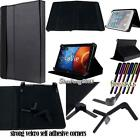 "New Folio Stand Leather Cover Case For Various 8"" 10.1"" NEC Tablet Model+ STYLUS"
