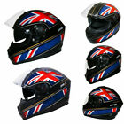 Leopard Hunter Full Face DVS Motorbike Motorcycle Helmet Union Jack Italy USA