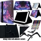 """Universal Folio Stand Leather Cover Case For Various 8"""" Models Tablet + STYLUS"""