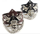 Concise Decorate Rivet Punk Pirates New Hand Chain Bracelet  Wrist Strap