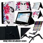 "Folio Stand Leather Cover Case For Various HP 7"" 8"" 10"" Models Tablet + STYLUS"