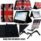 """Folio Stand Leather Cover Case For Various HP 7"""" 8"""" 10"""" Models Tablet + STYLUS"""