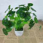 Decor Artificial Green Bonsai Office Beautiful Lotus Leaf Plant Leaves Poted
