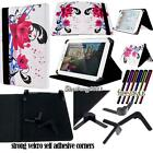 New Folio Stand Leather Cover Case For Various Freelander Models Tablet + STYLUS