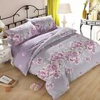 Reversible Floral Duvet Cover w/ Zip + Pillow Cases Girls Bedding Set All Sizes