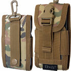 Universal Army Bag With Belt Loop & Carabiner Hook Cover Holster Mobile Pouch
