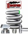 4 in. 316 Flexible Chimney Liner Tee Kit or Insert Kit with Optional Insulation