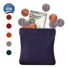Leather Squeeze Coin Pouch Coin Purse Change Holder For Mens or Womens USA Made <br/> Leather Squeeze Coin purse, Coin pouch, Genuine Leather