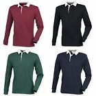 Front Row Mens Premium Long Sleeve Sports Rugby Polo Shirt/Top