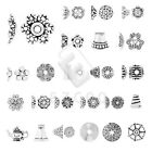 10-1000pcs Tibetan Silver Metal End Beads Caps Jewelry Findings 27 Style Lots EB