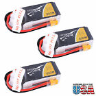 3x Tattu 850mAh 14.8V 45C 4S1P Lipo Battery Pack with XT30 plug