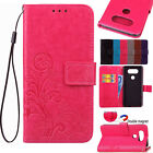 Hybrid Leather Floral Pattern Card Holder Stand Case Cover For LG K5 K7 K8 K10