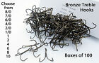 100 treble hooks bronze - Available 8/0- 10 extra strong Hook