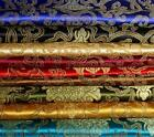 """1 meter by the yard Peony Flower brocade tapestry satin Fabric 35"""" in 10 colors"""