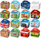 10 Childrens Party Boxes - Choose From 17 Designs - Bag Lunch Meal Bag Themed