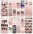 SLIM SILIKON iPHONE Print WORDS STATEMENT Wörter CASE COVER Schutz Handy Hülle