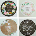 24 X Thank You Stickers. Floral, Flower Wedding Favours envelope Seal Chalkboard