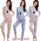 Women's pajamas intimo bear ears jersey trousers cuffs casual new D7038